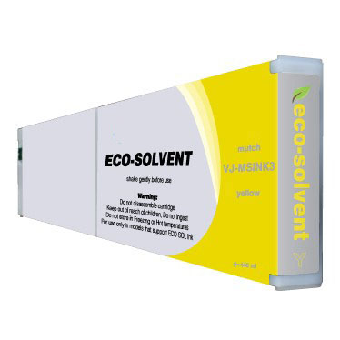 Yellow Eco-Ultra Ink compatible with the Mutoh VJ-MSINK3 YE-440