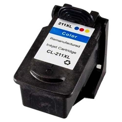 Cyan Magenta Yellow Inkjet Cartridge compatible with the Canon CL-211XL